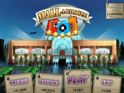 Mall-a-Palooza Opening Screen