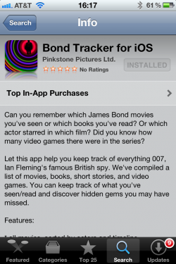 Bond Tracker for iOS