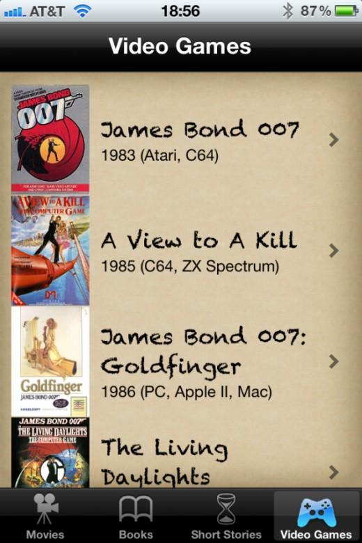James Bond Video Games
