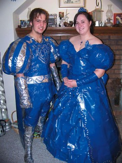 This couple went colored duct tape crazy!