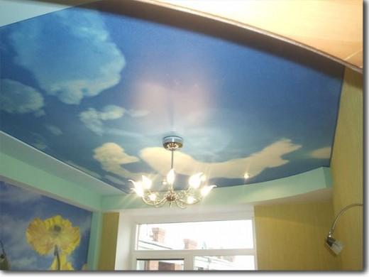 Skies on ceilings - flowers on walls!