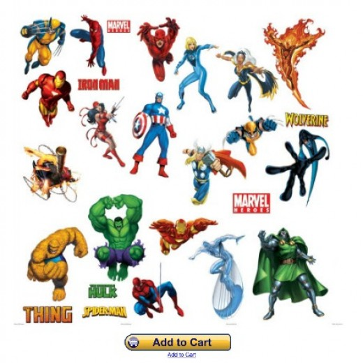 Avengers Team Collection Vinyl Wall Stickers