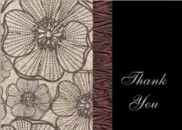 Poppy Thank You Card