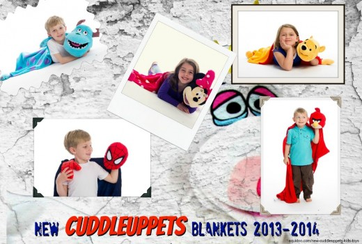 New Cuddleuppets Kids Plush Blankets