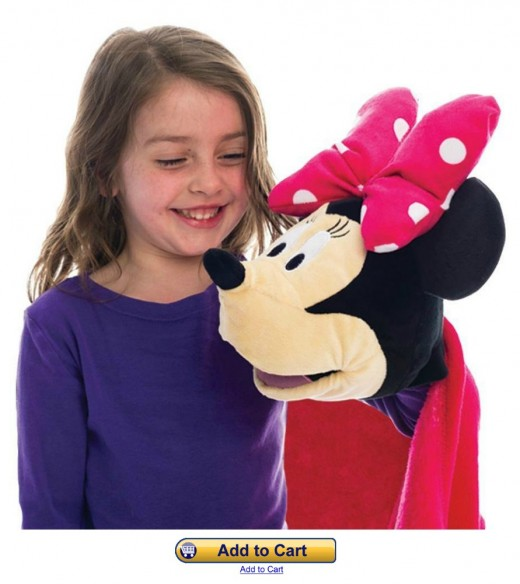 Minnie Mouse Cuddleuppet Blanket