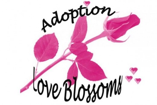 Pink Rose and Hearts Design - Adoption Love Blossoms