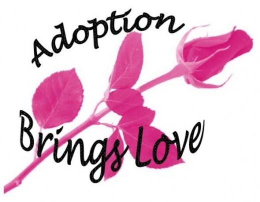 Pink Rose Design - Adoption Brings Love
