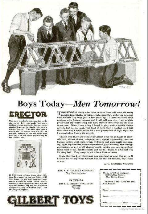Erector Set Vintage Ad