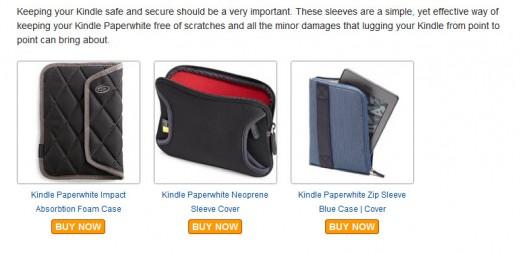 Kindle protective sleeves