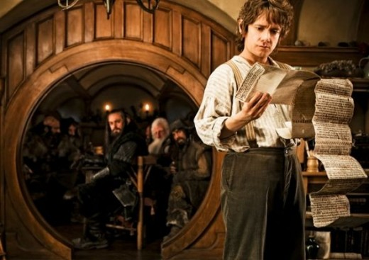 Bilbo Reading the Hobbit Book before the Hobbit Movie
