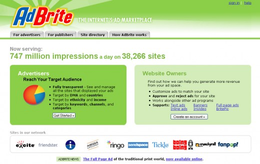 Make money online with Adbrite