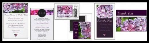 Hydrangea Floral Wedding Invitation Collection