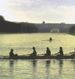 Sculling on the Grand Canal with the Palace Behind