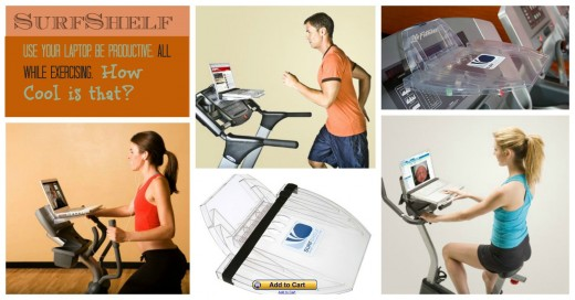 Affordable Laptop Fitness Workstation -Surf Shelf
