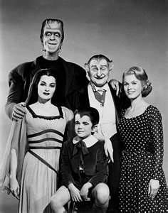 The Munsters were the first family of Halloween fun. Munsters Photo card.