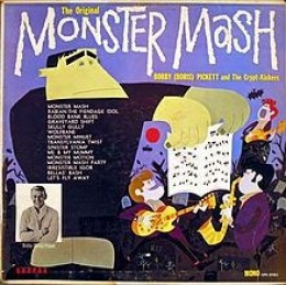 """Monster Mash by Bobby """"Boris"""" Picket is still played on the radio every Halloween. My Original album cover."""