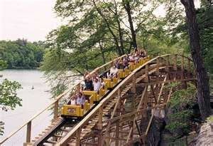 With 4,725 feet of track, Boulder Dash stretches from one end of the park all the way to Lake Compounce.