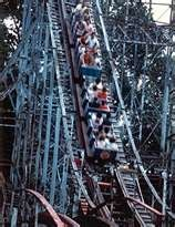 From 1985 until Crystal Beach closed in 1989, the Comet's first two cars were turned around for a backwards ride.
