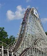 The Comet always rides forward at Great Escape.