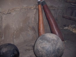 Primitive tools used in the kitchen.