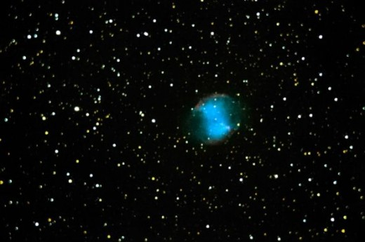 M-27:  A planetery nebula (exploded star remnant) in the constellation Vulpecula