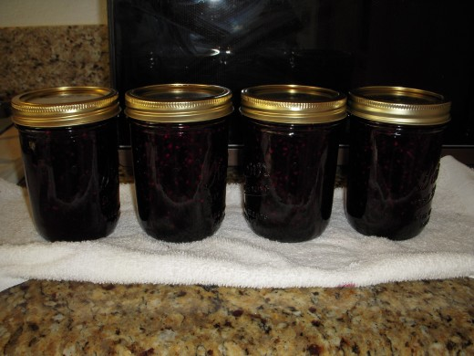 Jelly jars cooling