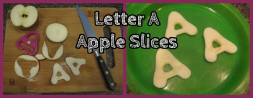Letter A Apple Slices
