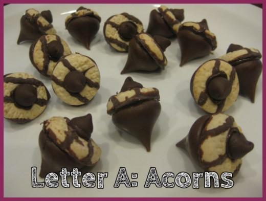 Letter A Acorns