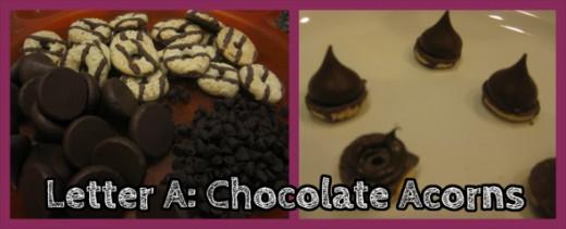 Letter A Chocolate Acorns