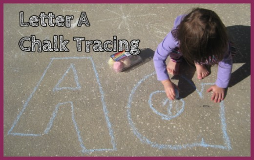 Letter A Chalk Tracing