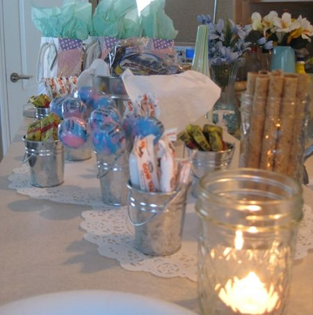 candy bar with candles