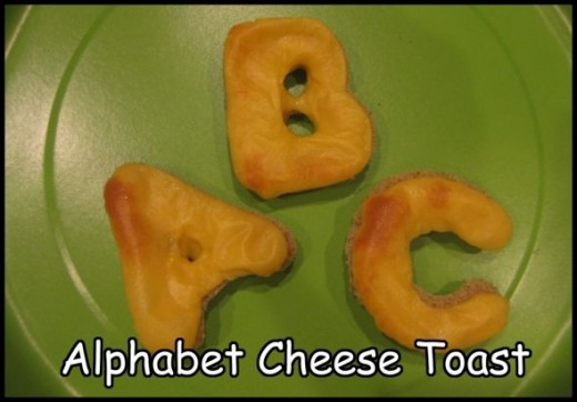 Alphabet Cheese Toast