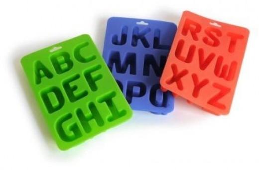 Silicone Alphabet Molds
