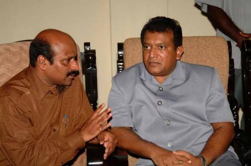 Prabhakaran and Chandrasekharan at talks, which failed