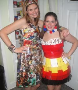 Abc party garbage bag dress pictures