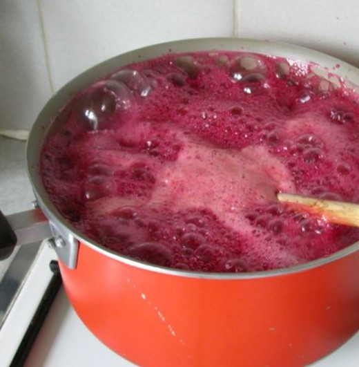 Plum Jam on the Stove