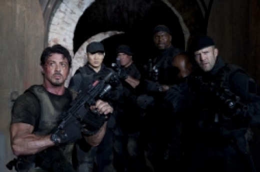 Sylvester Stallone and the Expendables