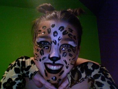 Leopard Face Paint - Don't Forget Lots Of Glitter!