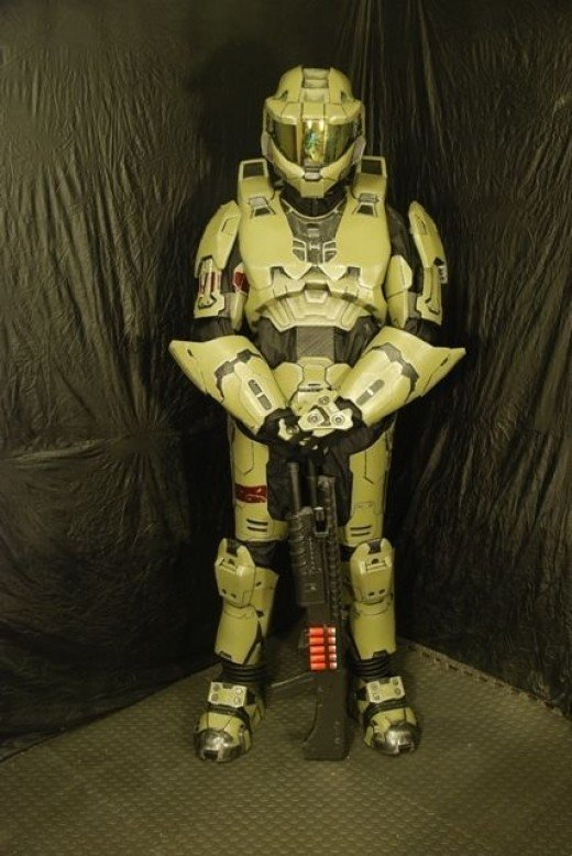 Spartan on guard duty