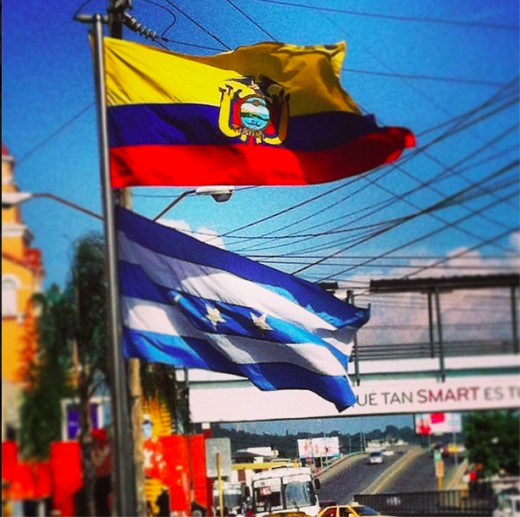 Ecuador and Guayaquil Flag