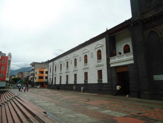 Baños City. The church.