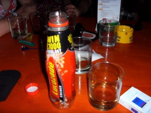 A treasured bottle of Lucozade
