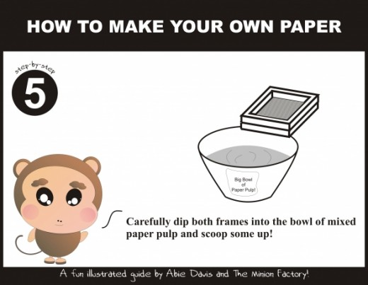 Learn how to make paper using recycled paper - step by step!