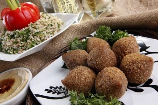 Lebanese food- Fried kibbe