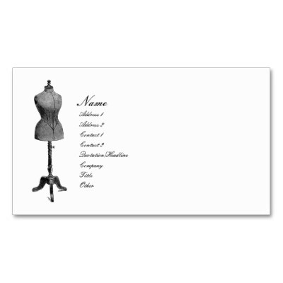 Antique Dress Form Business Card at Zazzle.com