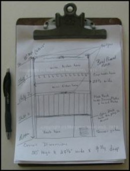 Sketch a rough draft of your plate rack design.