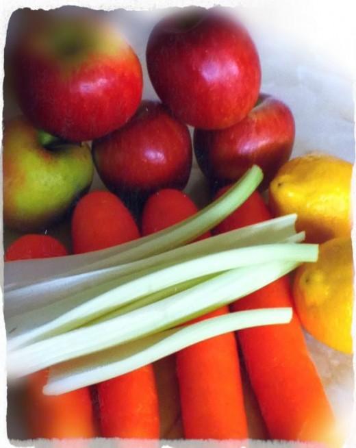 Carrot, Apple, Celery & Lemon Juice