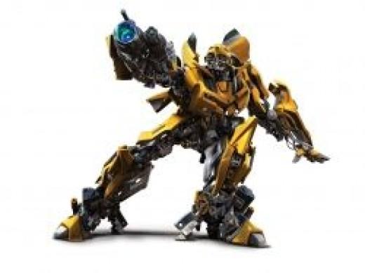 Bumblebee transformer toy