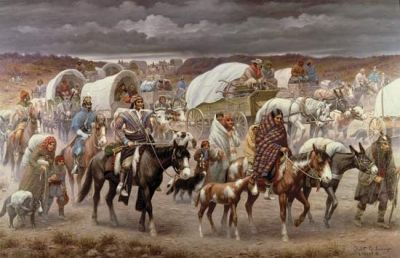 Native Americans March the Trail