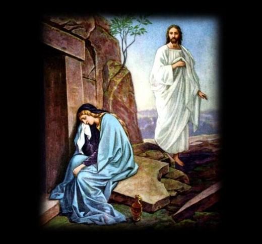 Mary Magdalene meeting Jesus